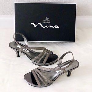 ✨New NINA Neely Slingback Glitter Heel Sandals